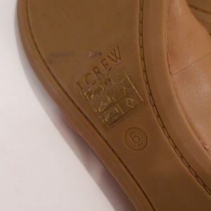J. Crew Shoes - J Crew tan leather flats size 6